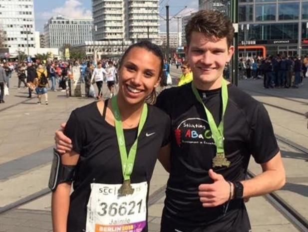 Wietse en Jaimie halve marathon voor Stichting ABaCus